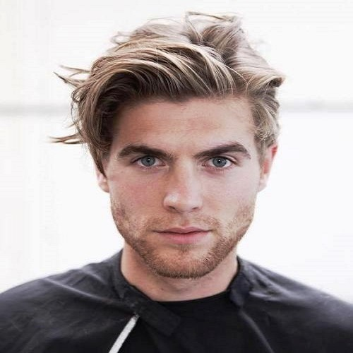 Grown out Layers Medium Hairstyles for Men
