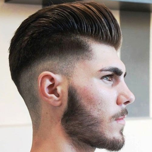 Mid Skin Fade and Pompadour for Medium Hairstyles for Men