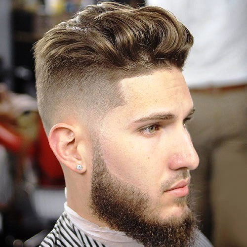 Short Sides with High Brushed up Top