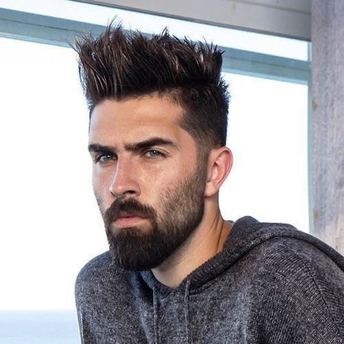 Spiky Tapered Cut Medium Hairstyles for Men