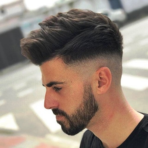 A Spiked and Messy Undercut with a Skin Fade