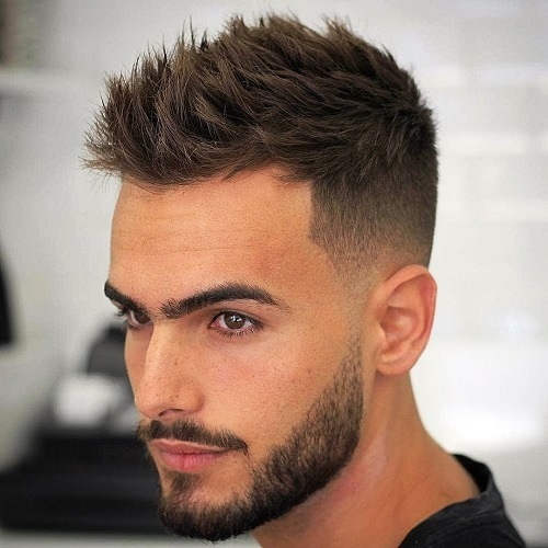 A Textured Undercut with a Contrast Design