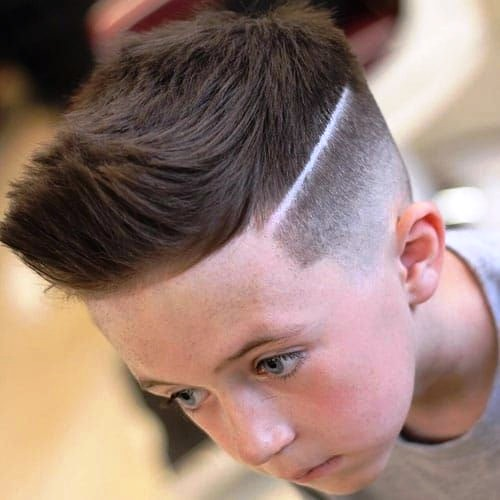 Boys Spiky Hair with Low Fade