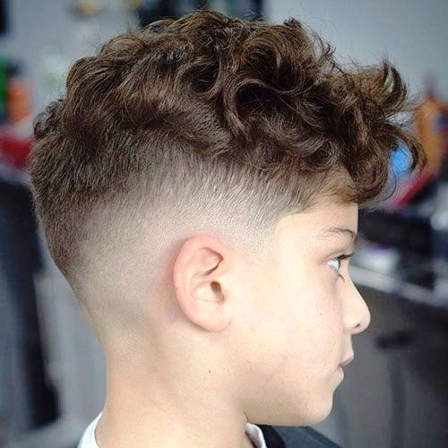Curly Fringe with High Fade