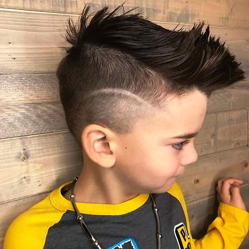 Flat Top Haircut with Surgical Lines