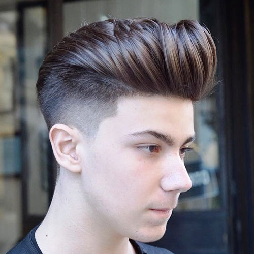 Style Pompadour and Classic Taper