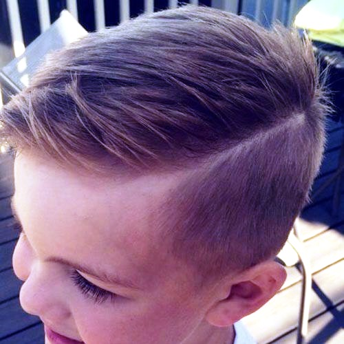 Toddler Boy Haircuts with Side-Parted