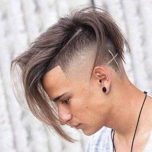 Two-Color Undercut Hairstyle for Men