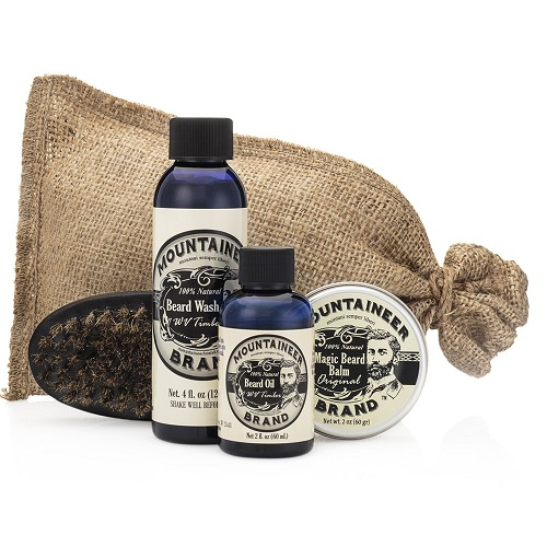FACIAL HAIR CARE SET BY MOUNTAINEER Beard Grooming Kit