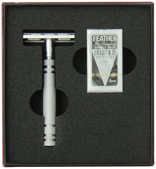 Feather All-Stainless Steel Double Edge Razor Model As-D2