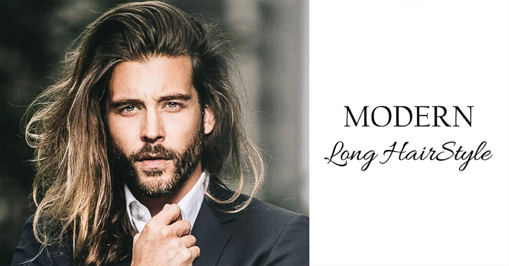 modern long hairstyle for men